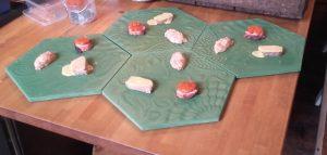 Sushi served on GAUDI Pavers